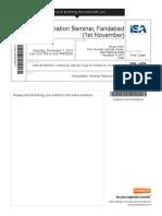 Isa Immegration Ticket