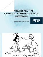 Running Effective School Council Meetings PFE