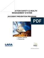 Construction Safety and Health Mangement System