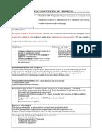 1. Formato Acta de Constitución de Proyecto