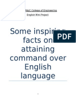 Some Inspiring Facts on Attaining Command Over English Language