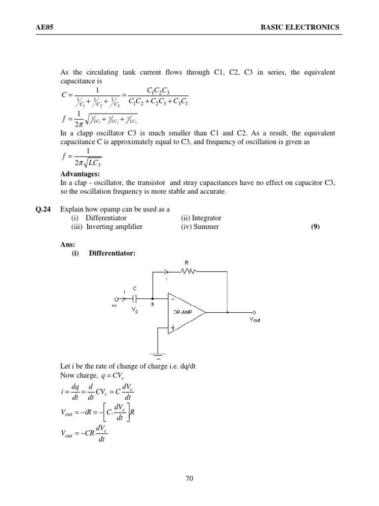 Basic Electronics 2 Field Effect Transistor Amplifier Transistoroscillatorcircuits Twotransistorsinewaveoscillator