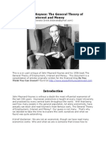 John Maynard Keynes the General Theory of Employment Interest and Money a Critique by Brett DiDonato