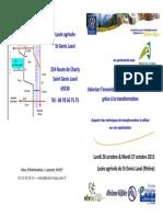 Invit Formation Transfo Miel 26-27 Octobre 2015
