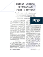 Antena Vertical Desmontavel Para 11 Metros