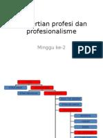 Pengertian Profesi Dan Profesionalisme A