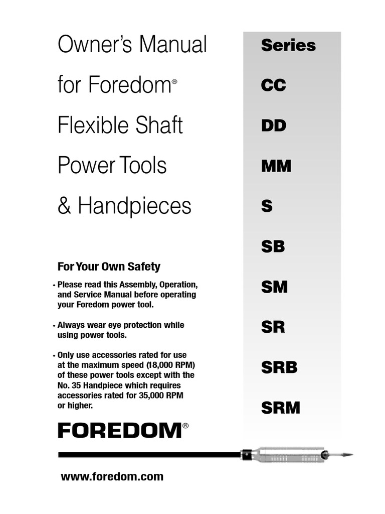 Foredom CC S SR Manual | Electrical Connector | Ac Power