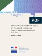 Pratiques culturelles en ligne, en France et en Europe. Points de repère et de comparaison 2007-2014