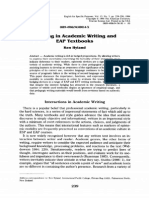 Hedging in Academic Writing and EAP Textbooks