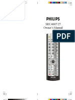 Phillips SRU3003WM/17 Remote Control Manual
