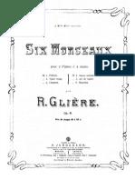 6 Morceaux Op.41 Glière n.3 Chanson