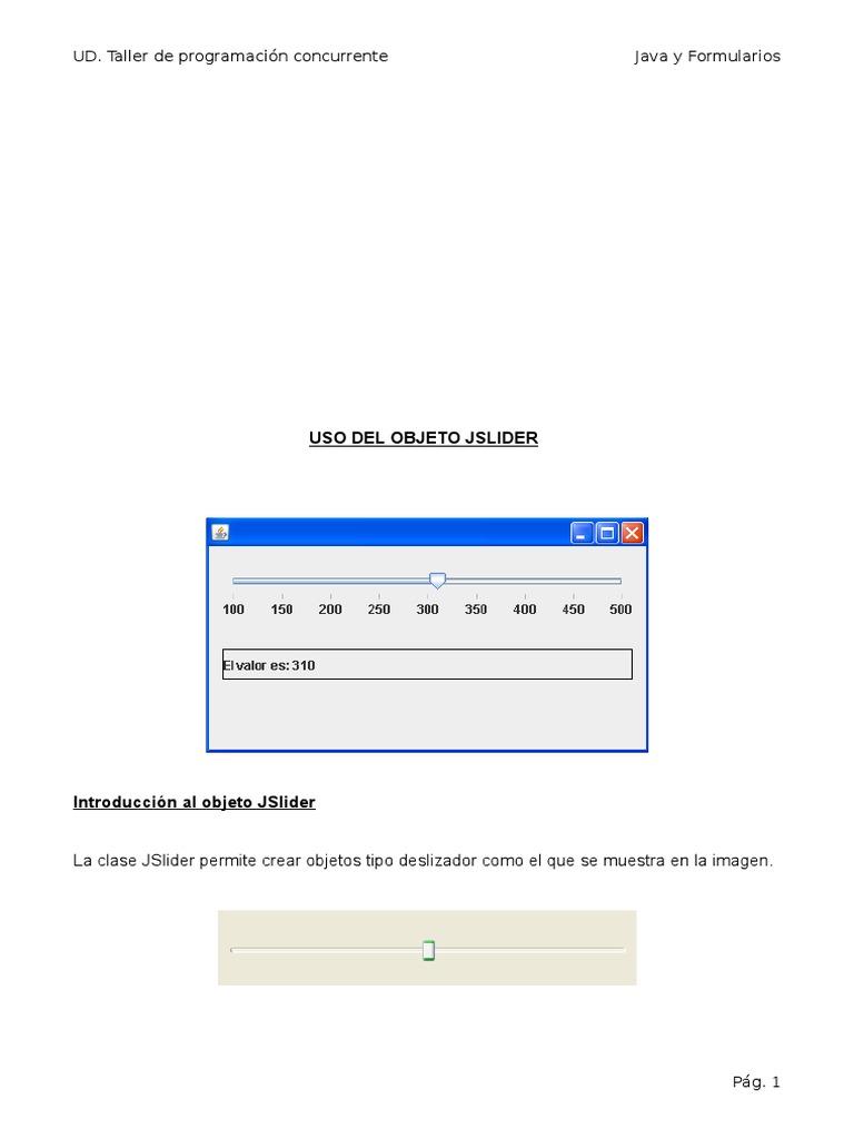 Guia Java ManejoControl JSlider