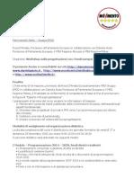 Avviso Pubblico Workshop Abruzzo-Molise M5S EFDD