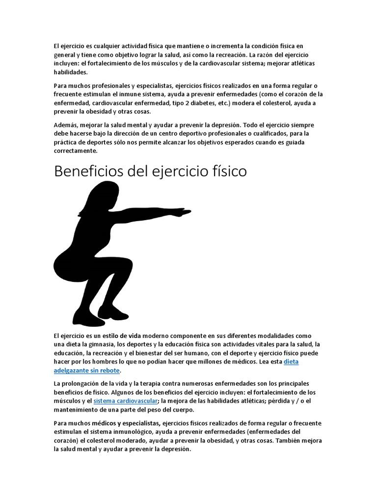 efectos positivos del ejercicio en la salud
