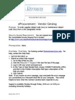 Vendor Catalog