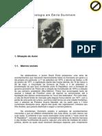 A Sociologia Durkheim