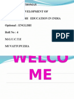History of Inglish Education in India (1)