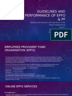 Guidelines and Performance of EPFo & PF