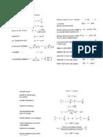 Formulario Hidráulica y Máquinas Hidráulicas