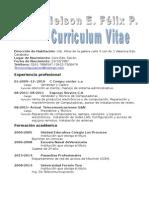 Curriculum Vitae Nelson. Modelo