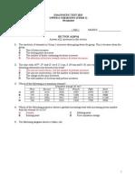 Diagnostic Test (Chemistry 2015)