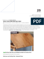 Build Your Own Drafting Table - That Should Hold!