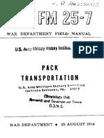 Field Manual 25-7 Pack Transportation 1944