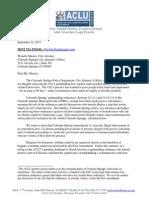 ACLU Panhandling Letter