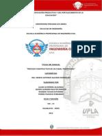 Manual Proceso Constructivo de Canal Trapezoidal