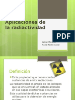 Aplicaciones Radiactividad