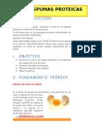 Espumas proteicas
