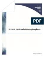 Pacific Crest 2012 SaaS Survey