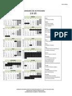 calendario 2015 nivel central