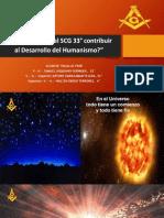 Cómo puede contribuir el SCG 33° al Desarrollo del Humanismo