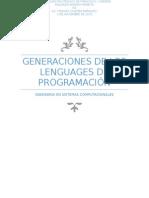 Generaciones de Lenguages de Programación