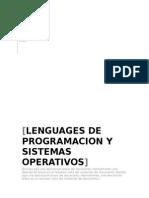 Tablas de Lenguaje de Programacion y s.o