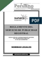 Reglamento de Publicidad Registral