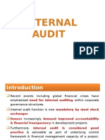 Internal Audit.....