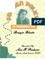 Foreign Policy in Perspective Benazir Bhutto