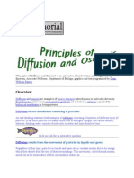 Principles of Osmosis and Diffusion
