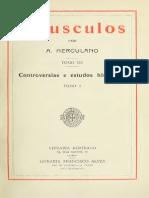 HERCULANO, Alexandre - Opusculos 03