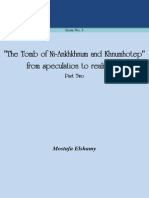 REL Issue No. 3 Tomb of Ni-Ankhkhnum-Khnumhotep from speculation to realization Part Two