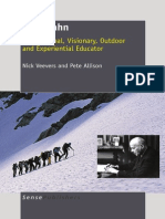 Kurt Hahn Part of Book Inspirational, Visionary, Outdoor and Experiential Educator
