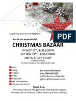 Riverbend Christmas Bazaar Poster 2015
