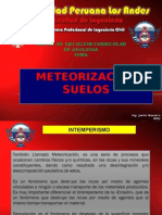 Geologia - Clase Viii - Meteorizacion de Suelos