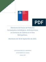 Monitoreo de Precios de Productos Farmacéuticos Antialérgicos Antihistamínicos en Farmacias de Cadenas en El Área Metropolitana.