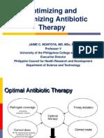 Optimizing and Maximizing Antibiotic Therapy