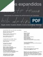 Cuerpos Expandidos. Intercambio de Artistas de Performance de Colombia