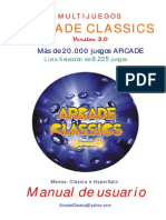 Manual Multijuegos ARCADE CLASSICS v2
