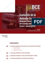 Balanza Comercial 2015